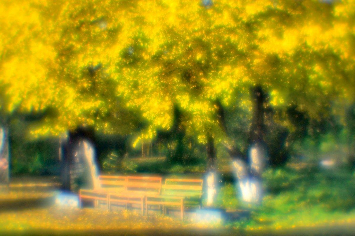 парк осенью - Гриша  6х9 или 9х12