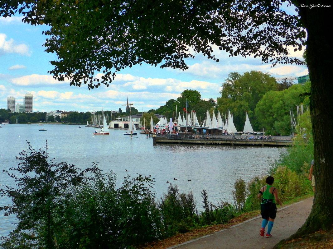 На озере Альстер (серия) Пробежка вокруг озера - Nina Yudicheva