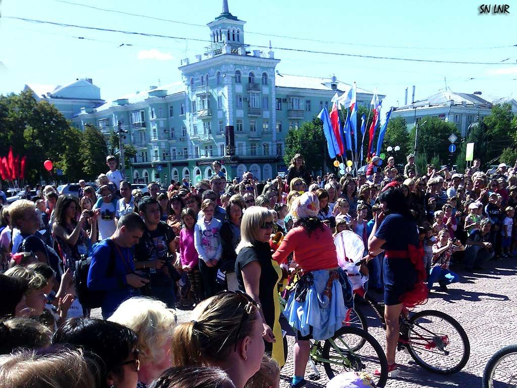 Как мы отпраздновали День Луганска! Леди на велосипеде - Наталья (ShadeNataly) Мельник