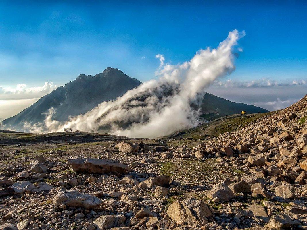 размышления об определении  линии горизонта по облакам - Владимир Амангалиев