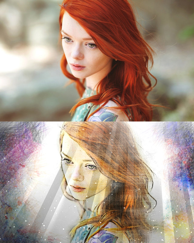Рыжая (мел) - Анастасия сосновская