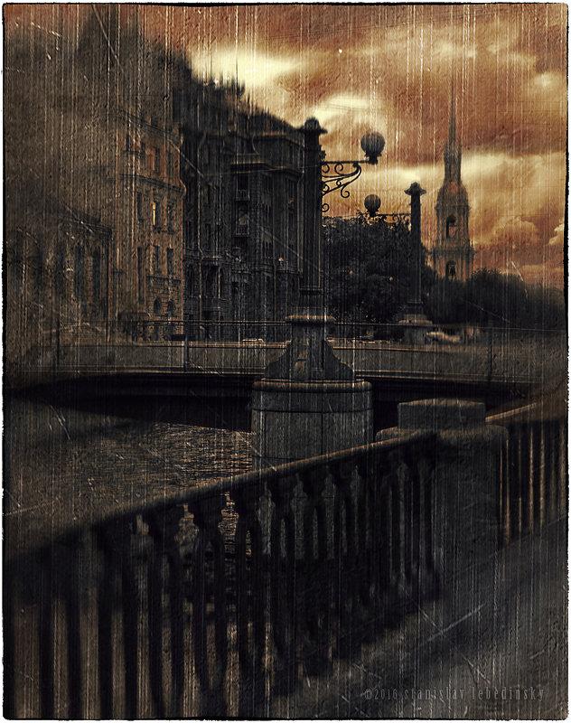 My magic Petersburg_02134 Набережная Крюкова канала, Торговый мост - Станислав Лебединский