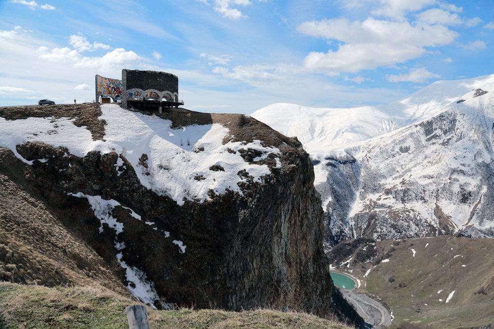 смотровая площадка на военно-грузинской дороге - Лидия кутузова