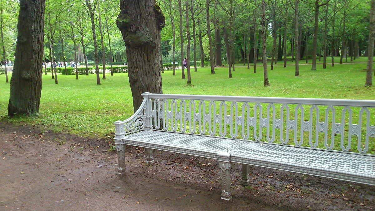 Скамейка в парке - ЕЛЕНА СОКОЛЬНИКОВА