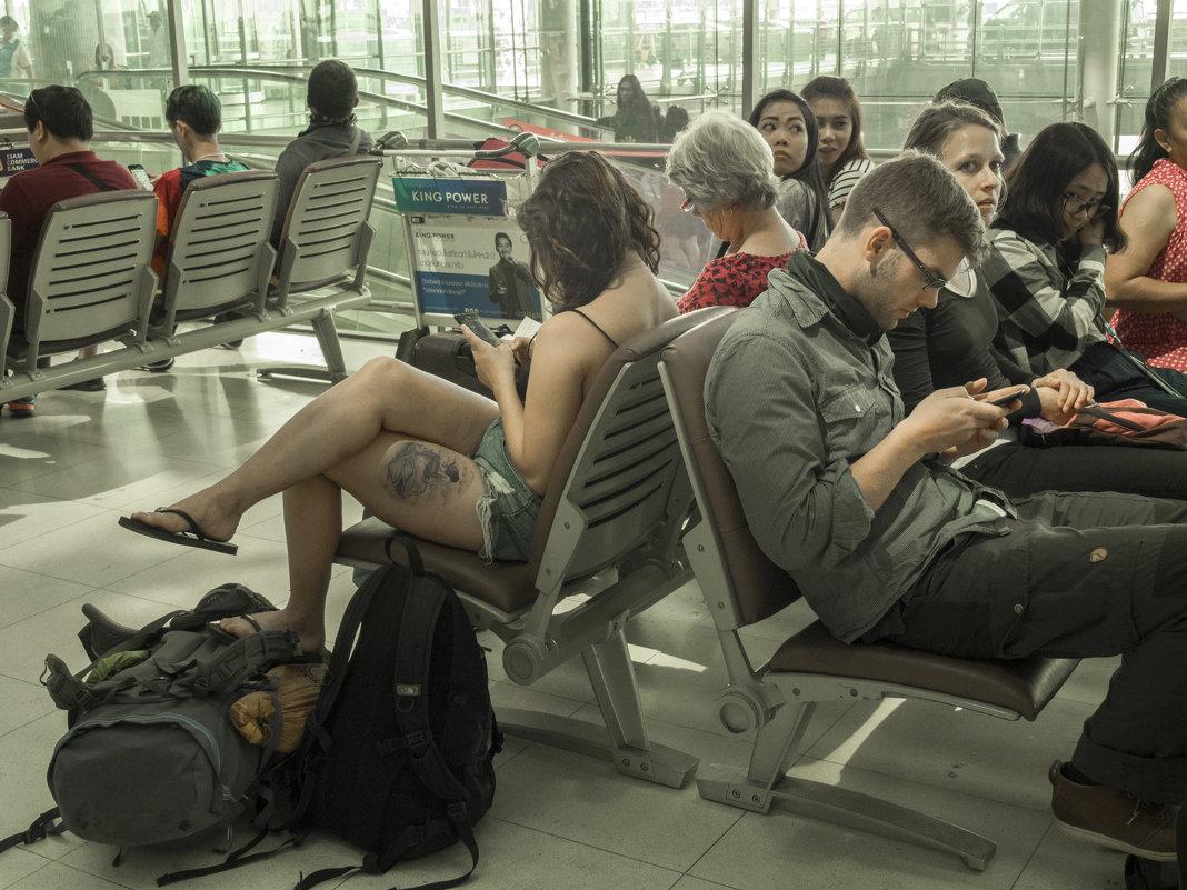Таиланд. Аэропорт Суварнабхуми. Ожидание регистрации - Владимир Шибинский