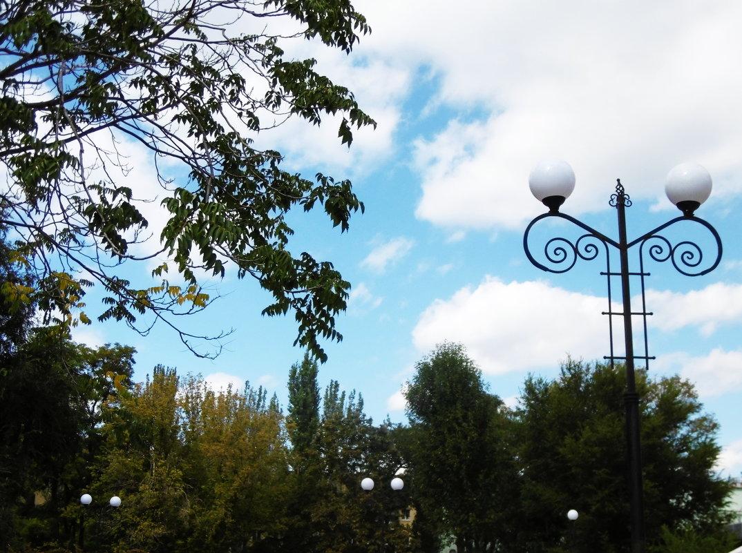 Пейзаж со светильником - татьяна