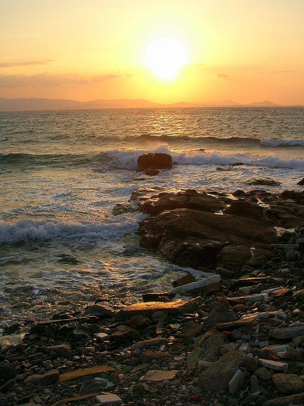Закат на острове  Наксос. - Оля Богданович
