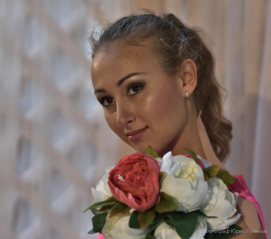 Портрет девушки с цветами - Юрий Пузанов
