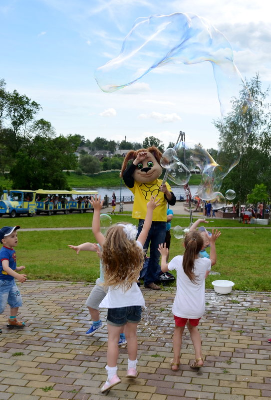 Огромные мыльные пузыри - Марина Романова