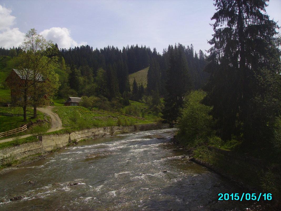 Горная   река   в   Ворохте - Андрей  Васильевич Коляскин
