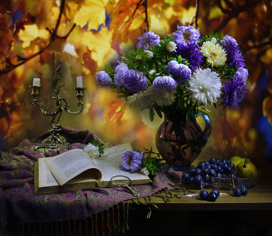 Осень рисуй, золотая светом лучистого дня... - Валентина Колова