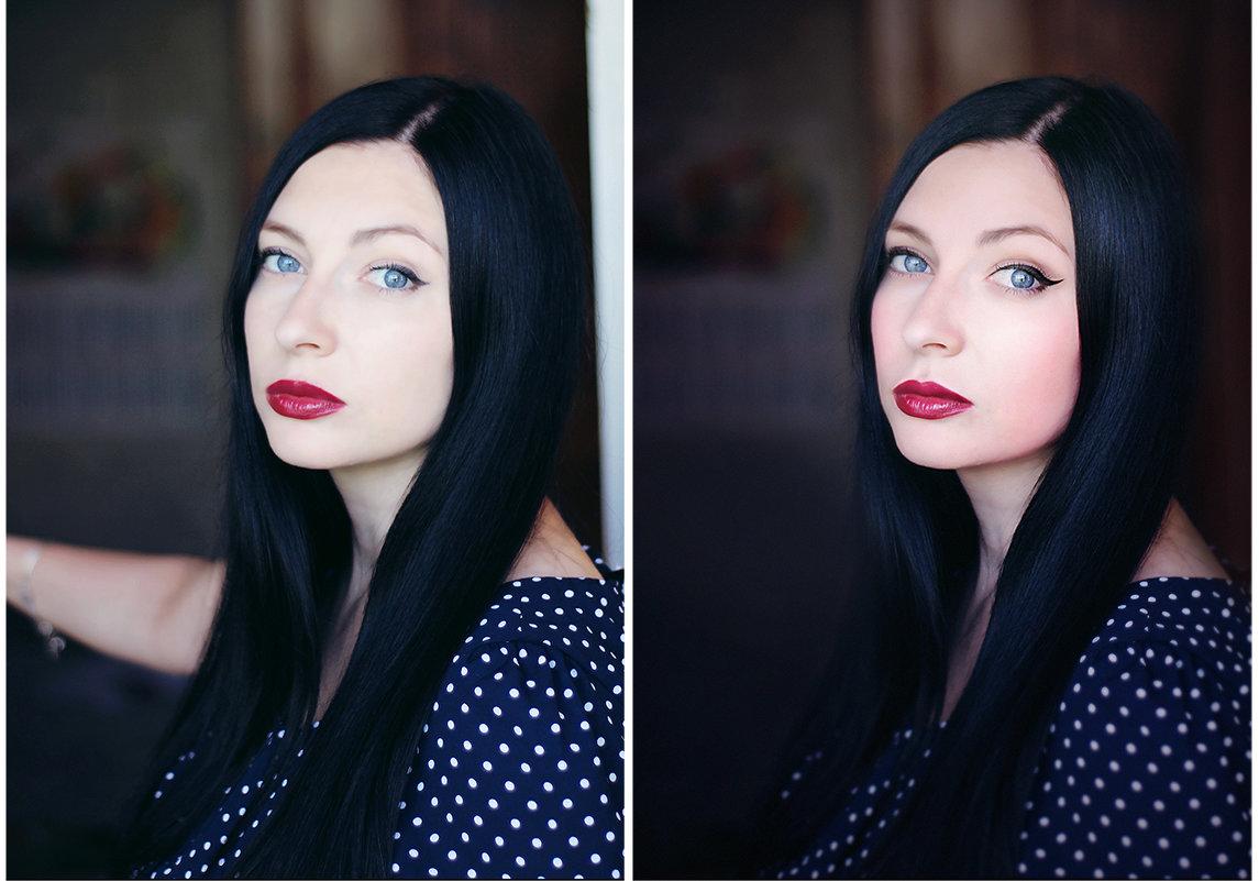 просто портрет (до и после) - Veronika G