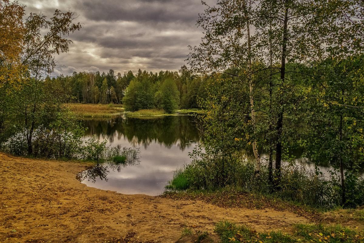 Лесное озеро, осень - Андрей Дворников