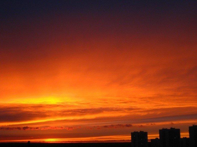 закат над Москвой 1 - Natali Kosheleva