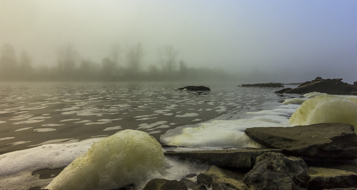 Туман над рекой. - Евгений Голубев