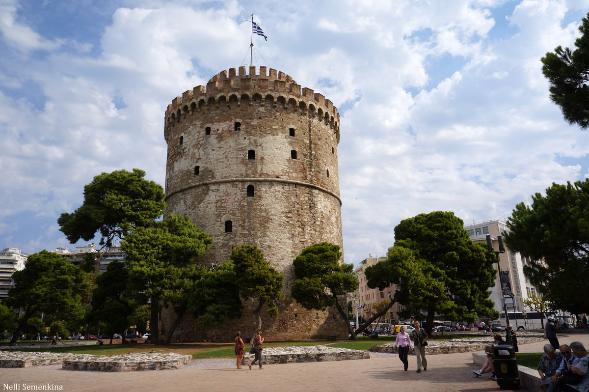 Белая башня - символ города Салоники. - Нелли Семенкина