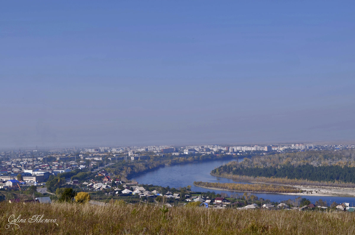 Город на берегу Енисея - galina tihonova