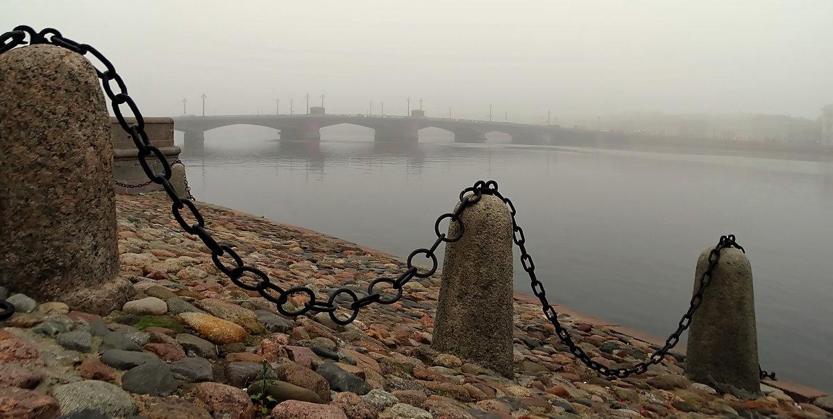 Мост,река и туман. - Владимир Гилясев