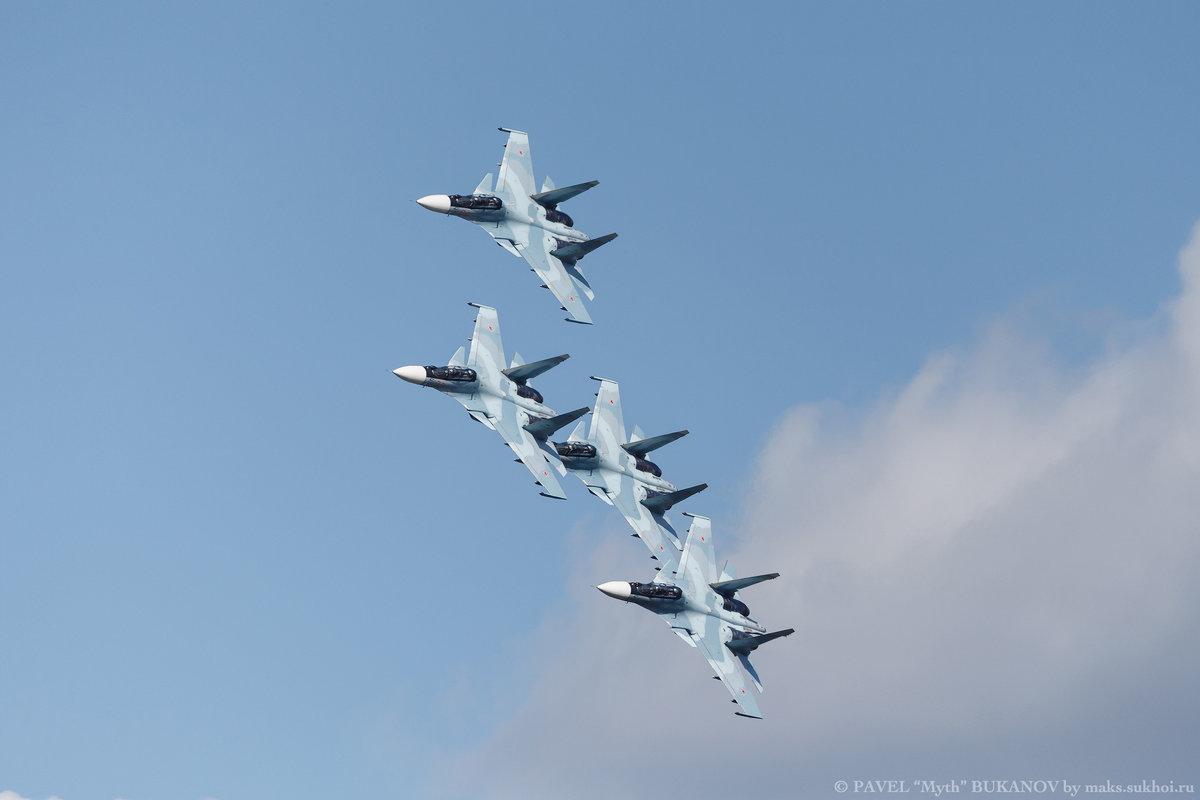 Четверка Су-30СМ ВВС Российской Федерации - Павел Myth Буканов