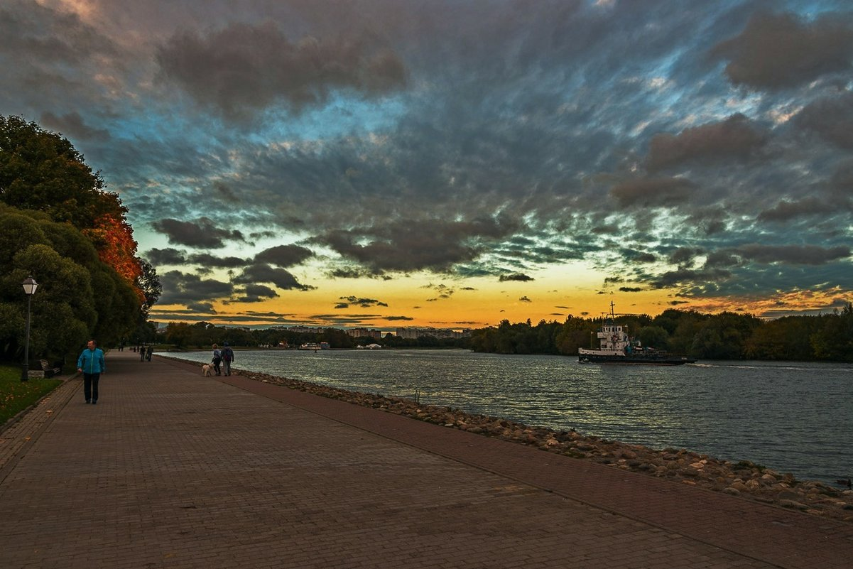Осенний закат на Москва-реке. - Александр Тулупов