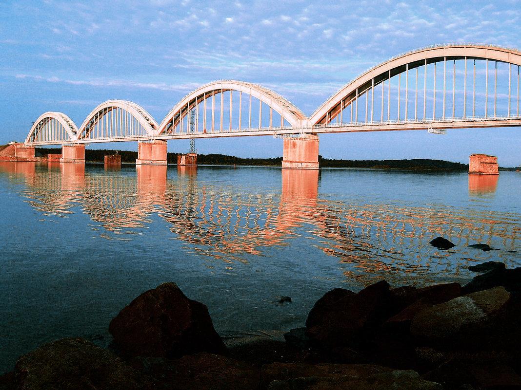 Волга, Мост. - Юлия Фалей