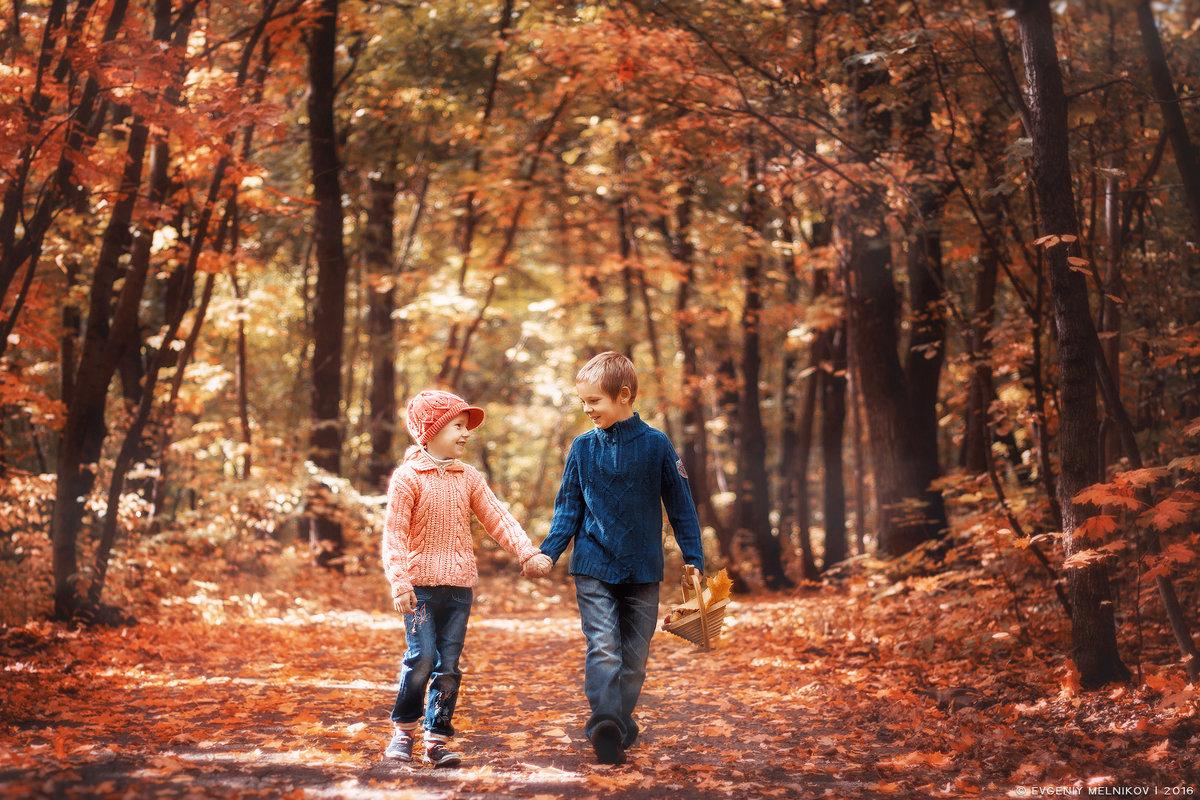 Детишки на прогулке - Евгений Мельников