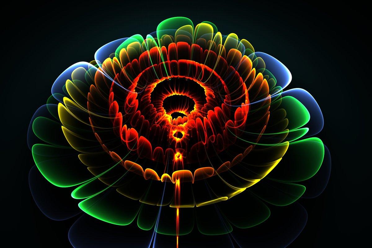 Абстрактный 3д цветок - valery60