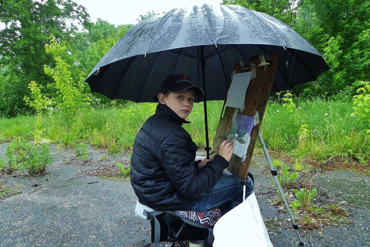 Художник , что рисует дождь . - Святец Вячеслав