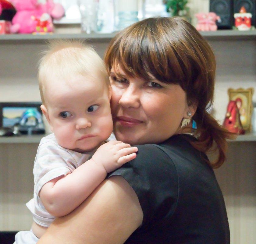 С внуком - Оксана Бригеман