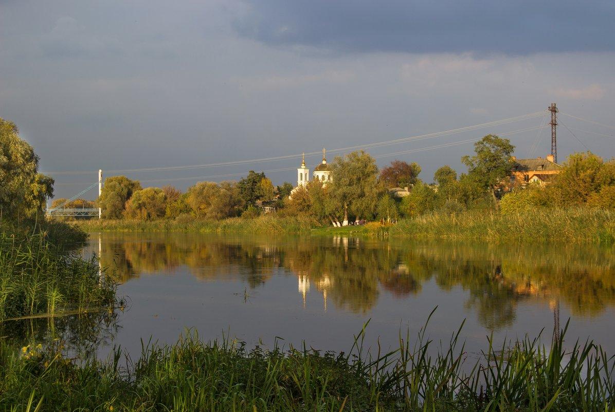 Осенний вечер на реке. - Валентина Домашкина