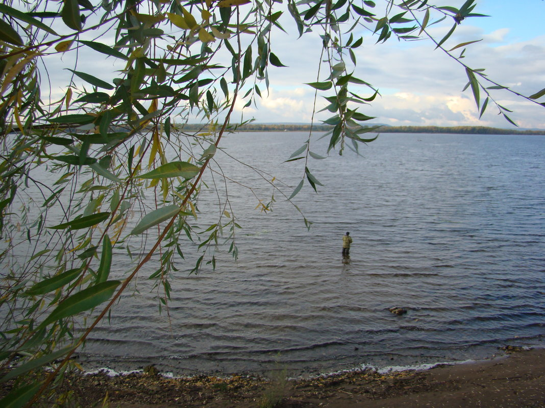 Рыбак на Волге - марина ковшова