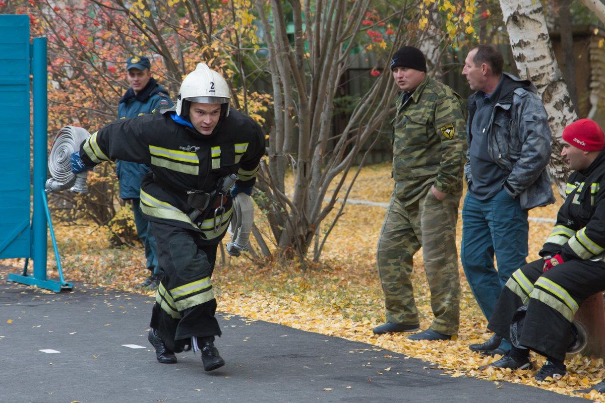 Пожарный на соревнованиях - Юлия Уткина