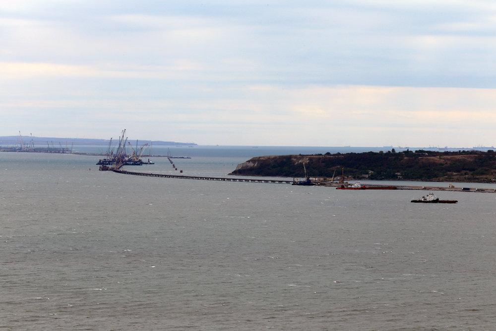 строительство Керченского моста с горы Митридат - Лидия кутузова