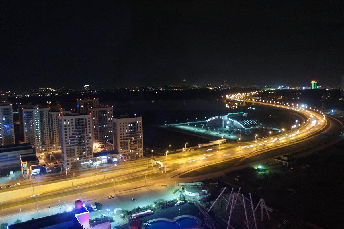 """Вид со смотровой площадки   отеля """"Ривьера"""". Мост Миллениум - Елена Павлова (Смолова)"""