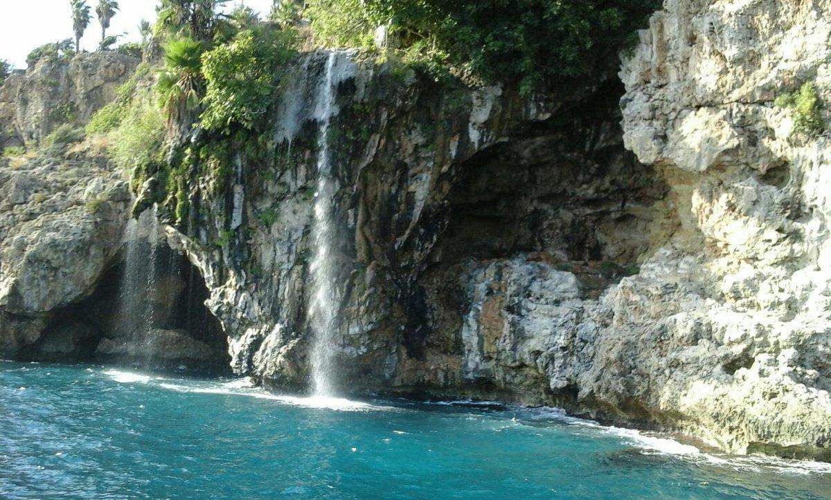 Анталья.Водопад.Средиземное море - Юлия Закопайло