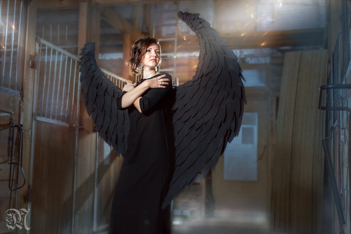 "Фотокартина ""Black Angel"" - Ирина Митрофанова студия Мона Лиза"