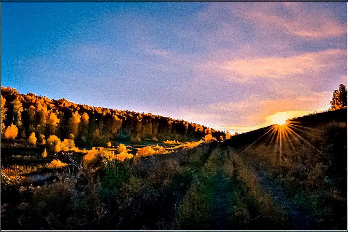 Осеннее закатное - galina tihonova