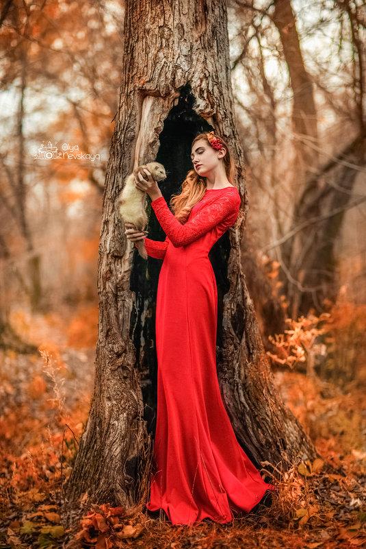 Осенняя фотопрогулка с девушкой и хорьком - Ольга Невская