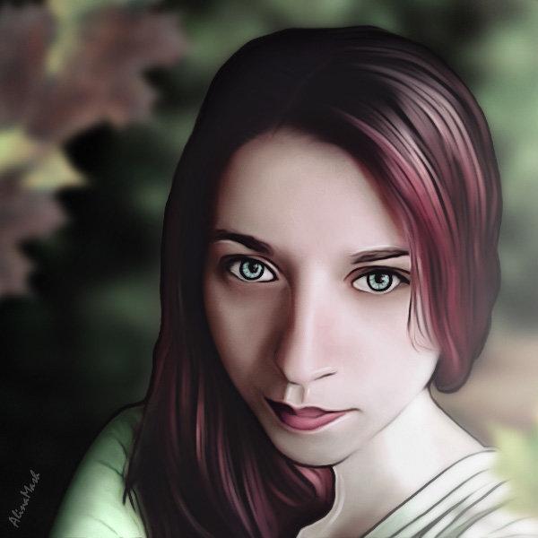 Очередная девушка арт - Alina_ Mash