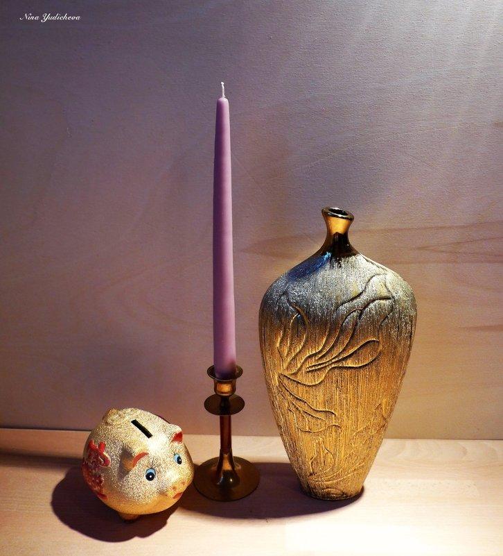 Ваза, свеча, копилка - Nina Yudicheva