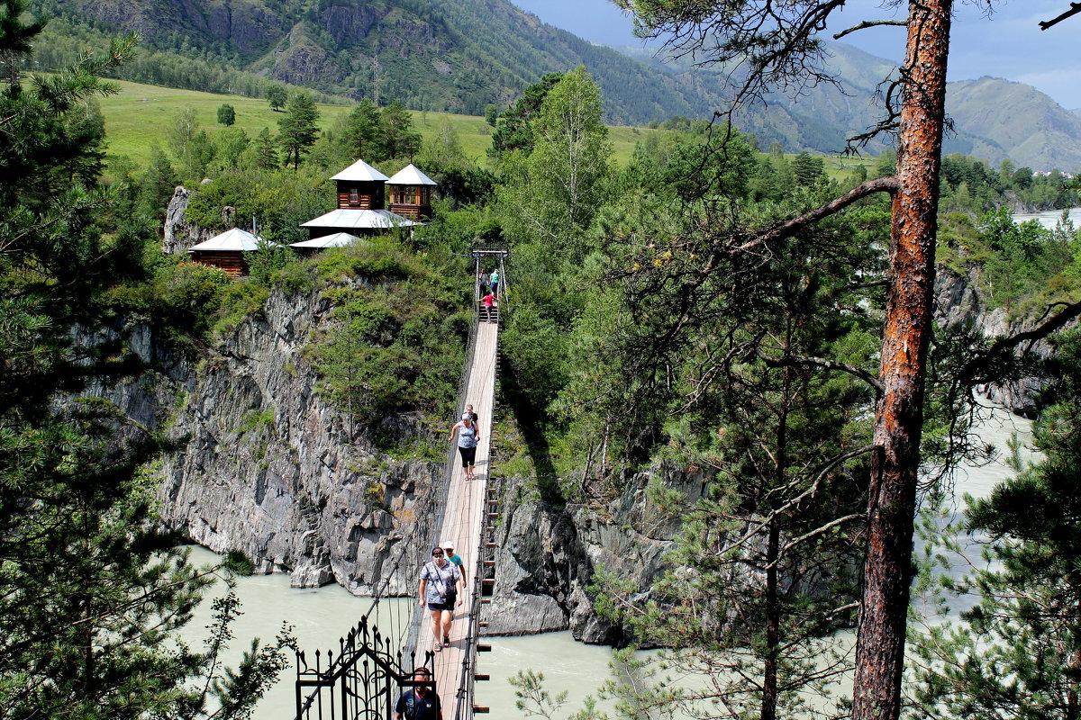 остров патмос подвесной мост дом деревне Зарелье