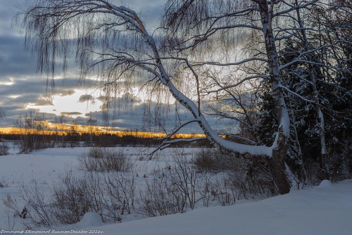Зимний пейзаж. - Виктор Евстратов