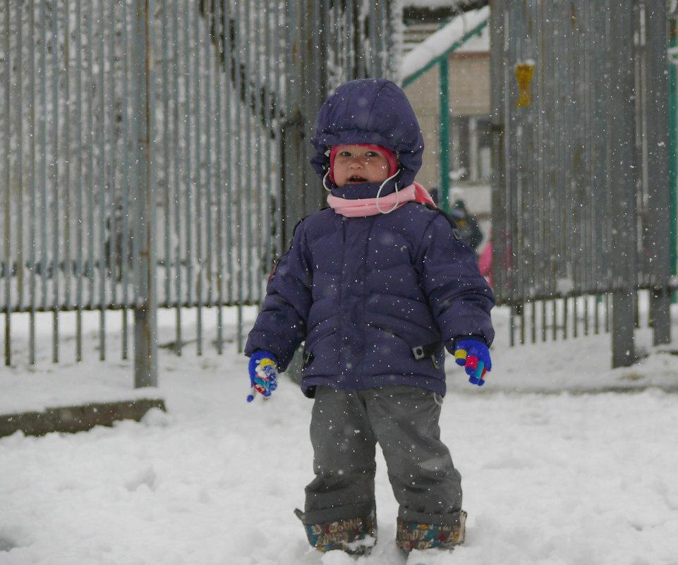 Первый раз пешком по снегу!)) - Елена Карманчикова
