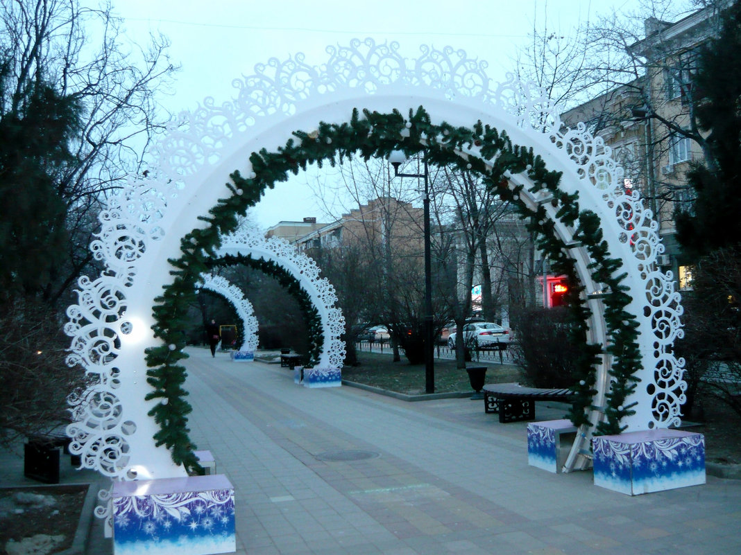 Новогодние арки (днем) - Надежда