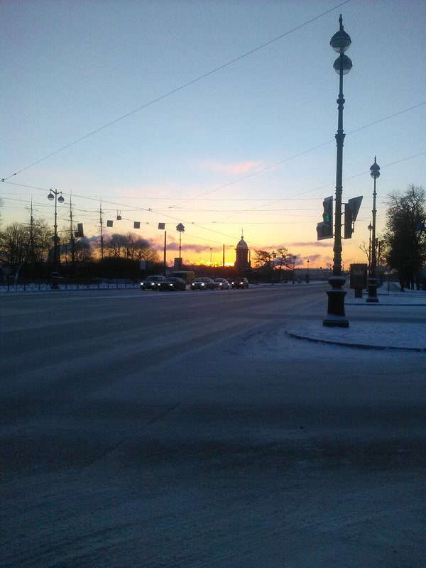 Морозное утро в Петербурге. - Светлана Калмыкова