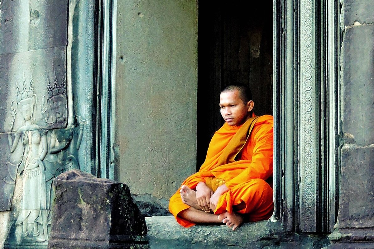Монах. Angkor Wat - Tatiana Belyatskaya