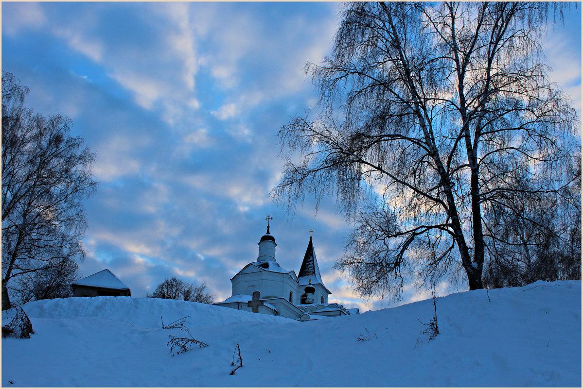 Январское небо в Тарусе - vladost2010(Владимир) Постоев