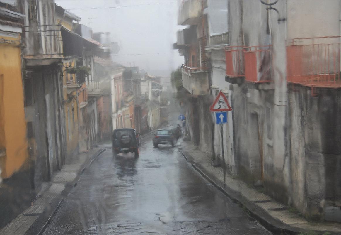 Дождь в итальянском городке на острове Сицилия - Валерий Кишилов