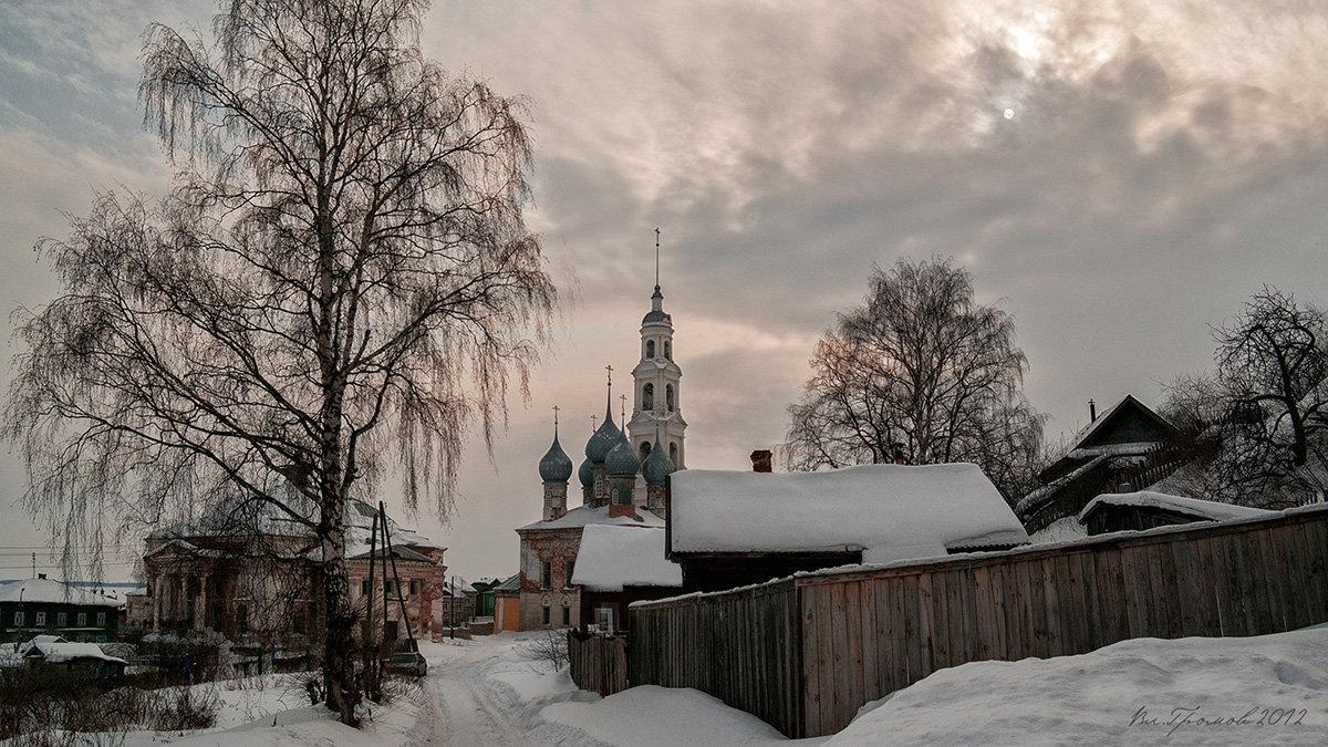 Провинциальный пейзаж. Юрьевец. Колокольня Георгия Победоносца - Владимир