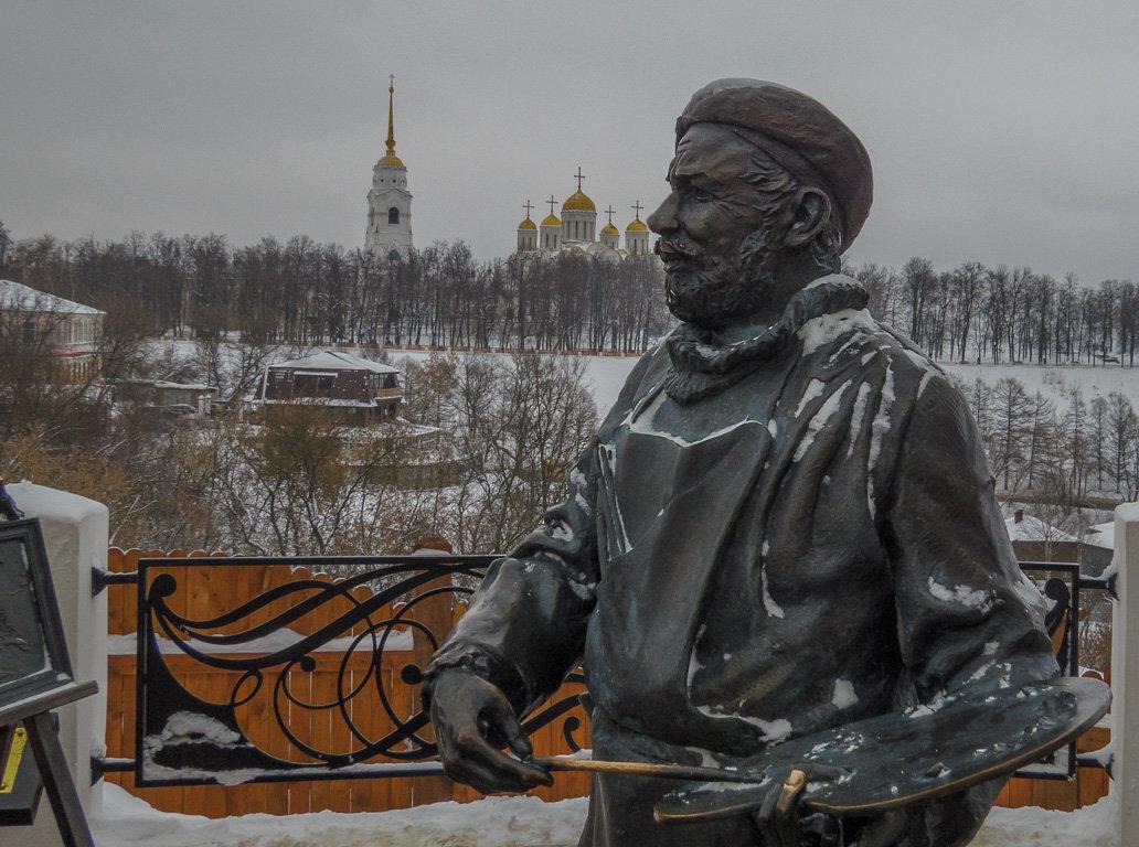 Владимирский художник на смотровой площадке - Сергей Цветков
